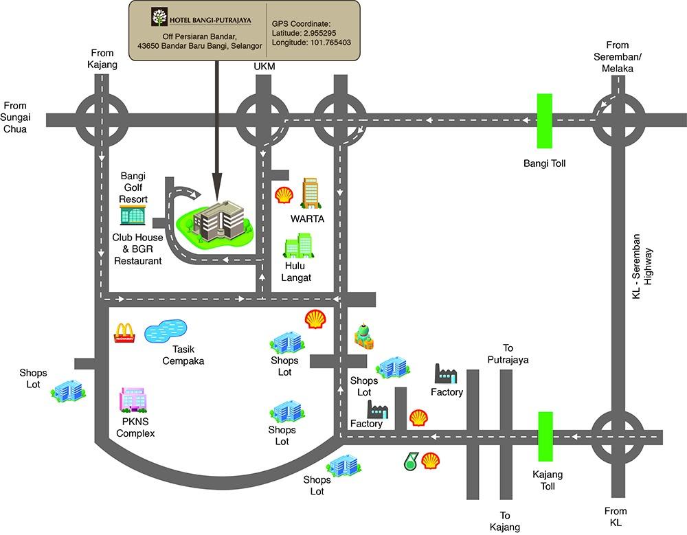 Maps - Hotel Bangi - Putrajaya